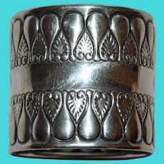 1896 Antique Gorham Sterling  Napkin Ring, 44 Grams, American Silver