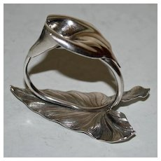 Antique Sterling Whiting Figural Calla Lily Napkin Ring