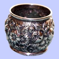 40.7 Gram J. S. Macdonald Antique Repousse American Sterling Napkin Ring, Baltimore