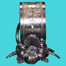 Antique Meriden Silver Plate Figural Napkin Ring