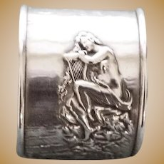 Antique Unger  Siren with Lyre American Sterling  Napkin Ring