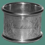 Antique (1911) Sterling Napkin Ring, Reverand Moldstad