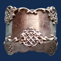 """Antique Towle """"Dec. 25th, 1898"""" American Sterling Napkin Ring, Great Inscription"""