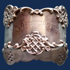 "Antique Towle ""Dec. 25th, 1898"" American Sterling Napkin Ring, Great Inscription"