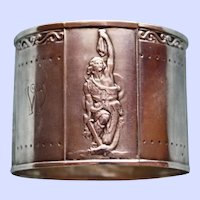 Antique Silver Napkin Ring with German Opera Scenes