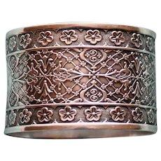 """Antique  """"Persian"""" or """"Arabesque"""" Coin Silver Napkin Ring"""