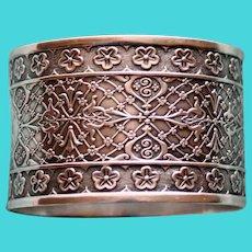 "Antique  ""Persian"" American Coin Silver Napkin Ring"