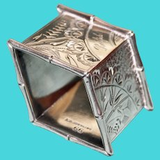 Antique Sterling American Napkin Ring with Stunning Shape