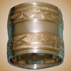 "Antique Gorham American Sterling and Gilt Napkin Ring 1879, Name ""Richard"""