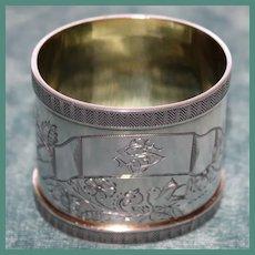 Antique Heavy Silver 84 Russian Napkin Ring