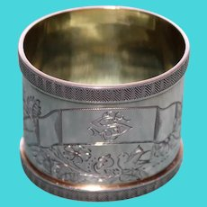 Antique Continental Heavy Silver 84 Russian Napkin Ring