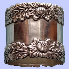 "60.5 Gram Antique American Tiffany Sterling Napkin Ring, ""Chrysthanthemum""-RARE"