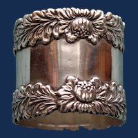 60.5 Gram  Antique american Tiffany  Sterling Chrysanthemum Napkin Ring -  RARE