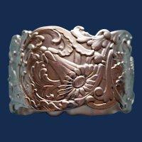 60.7 Gram American Tiffany Antique Sterling Napkin Ring, Art Nouveau c. 1895