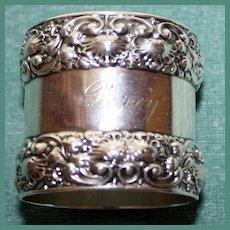Antique Tiffany Sterling Napkin Ring, Splendid Borders, 86.4 grams