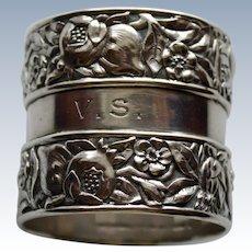 Stunning Tiffany Sterling Napkin Ring  c. 1902