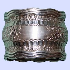 "Antique Tiffany Sterling ""Wave"" Napkin Ring"