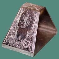 49.8 Gram Tiffany Antique american Sterling Napkin Ring, Union Square Mark, c.1870