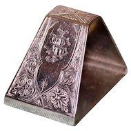 49.8 Gram Tiffany antique Sterling Napkin Ring, Union Square Mark, c.1870