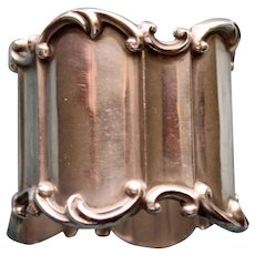 Antique Towle Paneled Sterling Napkin Ring, American