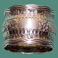 40 Gram Antique Tiffany American Sterling Napkin Ring, Wave Edge Design