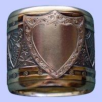 Antique Sterling Wood & Hughes Napkin Ring, Impressive Aesthetic Design