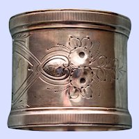 Antique Wood & Hughes American Sterling Napkin Ring, 1871-1899