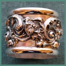 Exceptional American Antique Sterling Napkin Ring by Woodside, American Silver