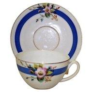 Antique Old Paris Porcelain Cup and Saucer