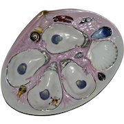 Antique UPW (Union Porcelain Works) Clam Shell Oyster Plate