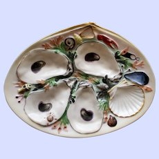 Antique Union Porcelain Works (UPW) American Oyster Plate