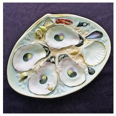 Antique UPW (Union Porcelain Works) Oyster Plate