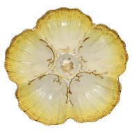 Antique French Marcel Redon Yellow Oyster Plate-Rare Color