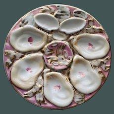 Antique Continental Carl Tielsch Oyster Plate, Vivid Color Palette