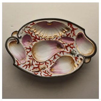 """Antique """"Bat Wing"""" Oyster Plate"""
