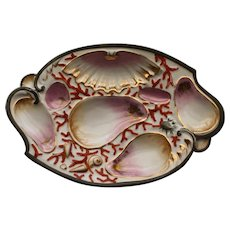 "Antique ""Bat Wing"" Oyster Plate"
