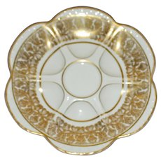 Antique Limoges Bernardaud Oyster Plate, Higgins & Seiter, New York, Marks on Reverse
