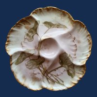 Anyique Charles Field Haviland GDM French Oyster Plate, Water Plants, #5
