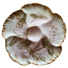 Charles Field Haviland Floral Oyster Plate #5