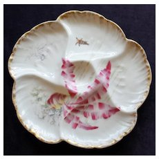Charles Field Haviland, Limoges French Antique Oyster Plate