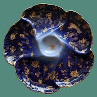 Charles Field Haviland French Limoges Cobalt and Gilt Antique Oyster Plate