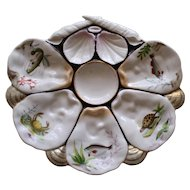 Wilhelm & Graf Antique Oyster Plate with Sea Creatures