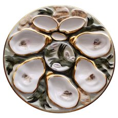 Antique Carl Tielsch Oyster Plate, Stunning Design
