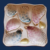 Antique Continental Oyster Plate, Schwalb Brothers, Deep Wells, Whimsical Design