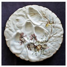 """Antique Oyster Plate """"Turkey"""" Form, Nautical Decorations"""