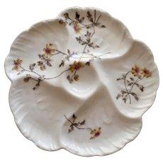 Antique Charles Field Haviland / GDM Oyster Plate - Flower Motif