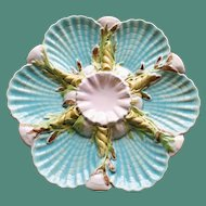 Antique Signed George Jones Majolica Oyster Plate - Rare