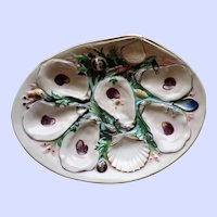 Antique Union Porcelain Works (UPW) Large Clam Shaped Oyster Plate