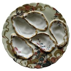 Antique Haviland Limoges Oyster Plate, Arts and Crafts Design
