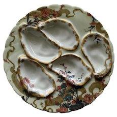 Antique Haviland Limoges Oyster Plate, Arts and Crafts Design